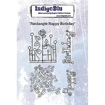 Indigoblu fandangle Happy Birthday A6 rubber stempel