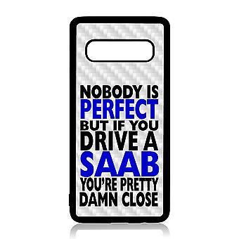 Samsung S10 Shell mit Nobody ist perfekt Saab Design