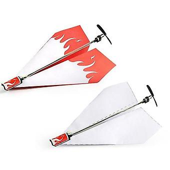 Airplane Rc Folding Paper Model Diy Motor Power Red - Rc Plane Power Kids Toy