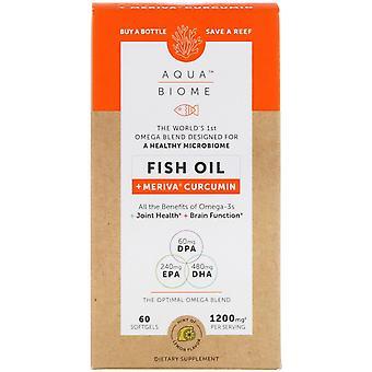 Enzymedica, Aqua Biome, Fish Oil + Meriva Curcumin, Lemon Flavor, 1,200 mg, 60 S