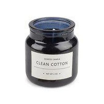 Doftljus Clean Cotton svart glasburk 2-pack
