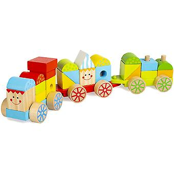 Abeec Just Kidz Stacking Train Wooden Train Toy