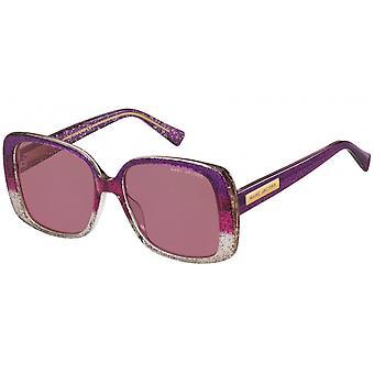 Sunglasses Women Rectangular Purple Glitter