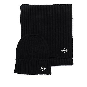 Replay Men's Beanie-Scarf-Gloves Set