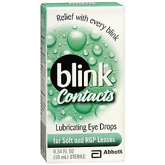Blink contacts lubricating eye drops, for soft and rgp lenses, 0.34 oz *