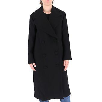 L'autre Koos B1580466047u999 Women's Black Wool Coat