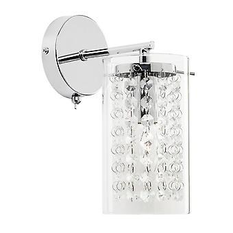 Endon Alda - 1 licht aan de muur licht chroom met heldere glazen schaduw druppels, E14
