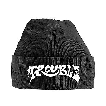 Trouble Beanie Hat Band Logo new Official Black