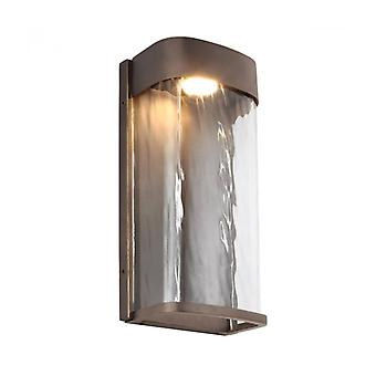 Bennie Led Wall Light In Antique Brass Height 30.4 Cm