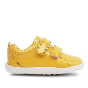 Bobux step up waterproof grass court yellow trainer shoes