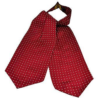 Ties Planet Gold Label Borgoña y Blanco Polka Dot Impreso Seda Casual Cravat