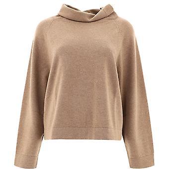 Fabiana Filippi Mad220w025n1281218 Women's Beige Wool Sweater