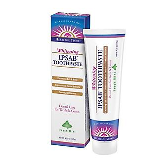 Heritage Store Ipsab Whitening Toothpaste, 4.23 oz