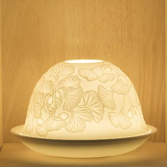 Nordic Lights Candle Shade & Plate - Dangling Flowers