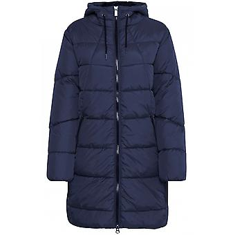 b.young Bomina Navy Quilted Coat