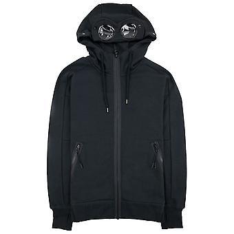 CP Company Cp Company Diagonal Korotettu Fleece Full Zip Goggle Huppari Musta 999