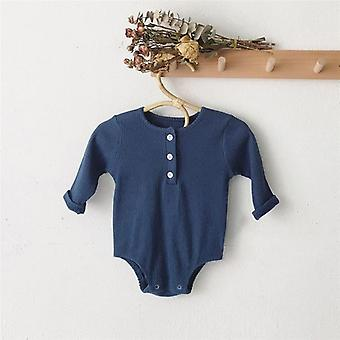 Newborn Baby Cotton Rompers Long Sleeve Jumpsuit Outfit Clothes Hat
