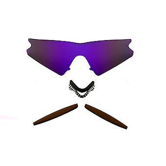 الاستقطاب استبدال العدسات عدة ل Oakley M الإطار اكتساح الأرجواني مرآة براون المضادة للخدش المضادة للوهج UV400 SeekOptics