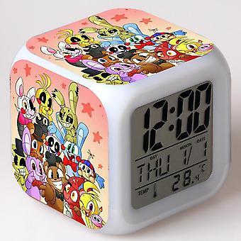 Colorful Multifunctional LED Children's Alarm Clock -Cinco noites no Freddy #42