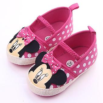 Mini hiiri sarjakuva painettu-polka piste pinnasänky kengät vastasyntyneille vauvoille