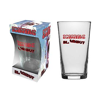 Scorpions Pint Glass Blackout Band Logo new Official Boxed