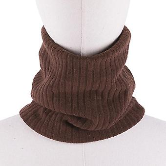 Unisex Winter Warm Knitted Ring Scarves Thick Elastic Knit Mufflers, Neck