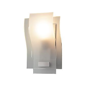 Modern Wall Lamp White 1 Light  with Semi-Matt Shade, E27