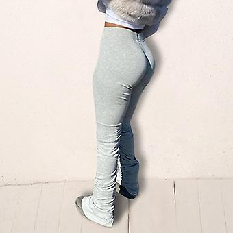 Stacked Leggings Joggers Stacked Sweatpants Women Ruched Trousers