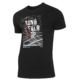 4F TSM023 H4Z20TSM023GBOKACZER Universal Sommer Herren T-shirt