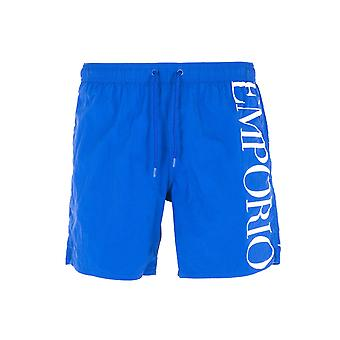 Emporio Armani Sustainable Blue Swim Shorts