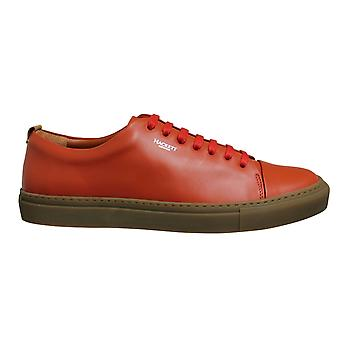 Hackett London Charlton 7 Orange Leather Lace Up Mens Cupsole Shoes HMS20817 135