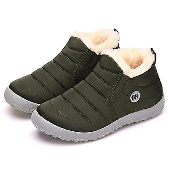 Winter Ankle Botas Mujer Waterproof Snow Boots Female Slip On Flat Casual Shoes