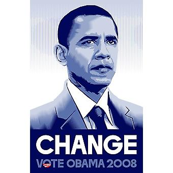 Barack Obama - (Change) Campaign Poster Movie Poster (11 x 17)