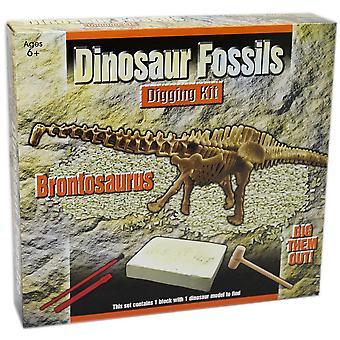 Körhinta ásni dinoszaurusz csontváz fosszilis őslénytan régészet ásatási készlet gyerekeknek ~ brontos