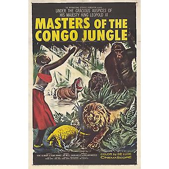 Maîtres de l'affiche du film Jungle Congo (11 x 17)