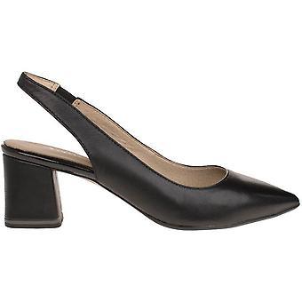 Sandálias de salto médio pretos