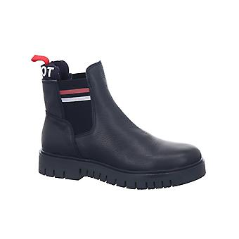 Tommy jeans acolchada lengua tommy booties mujeres azul