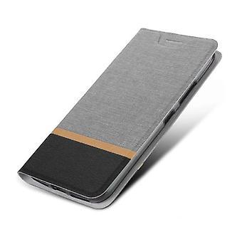 Beschermende PU folio case voor BlackBerry Motion Gray