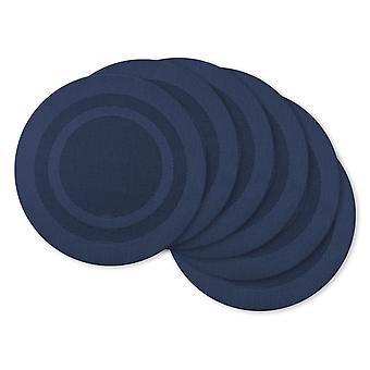 Tovagliette bitele in Pvc rotondo blu nautico Dii (set di 6)