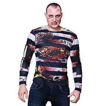 Shirt Zombie Prisoner Men's Polyester Black Size M/ L