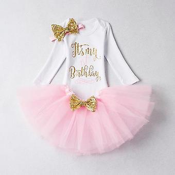 Lovely Girls Romper Skirt + Headband Outfit , Design 18