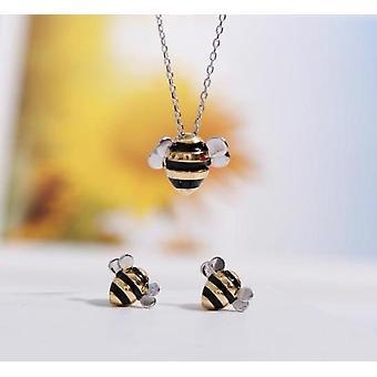 Silver Female Bee Jewelry