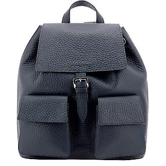 Orciani B02093softnavy Women's Blue Leather Backpack
