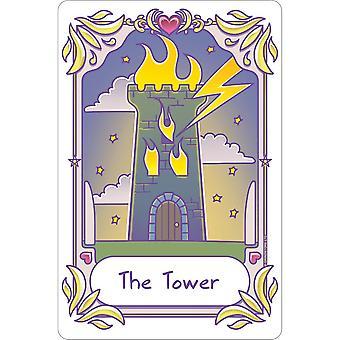 Dödlig Tarot Kawaii Torn plaketten