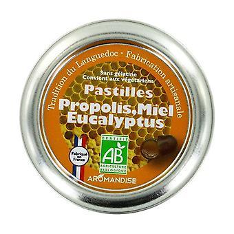 Propolis, hunaja ja eukalyptus pastilles 36 pellettiä