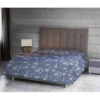 Täcke Helen Färg Blå, Vit, Grå i Mikrofiber, L170xP250 cm