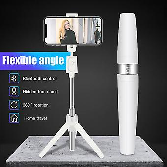 360° Rotation Mini Extendable Selfie Stick With Wireless Bluetooth Remote
