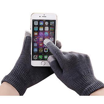 Samsung Z3 Unisex One Size Winter Touchscreen Handschoenen voor alle smartphones / tafels (donkergrijs)
