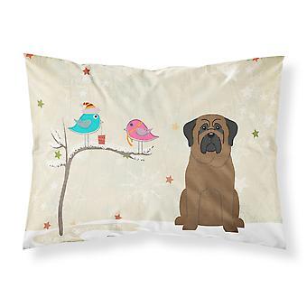 Caroline's Treasures Christmas Presents Friends Bullmastiff Fabric Standard Pillowcase Bb2556Pillowcase