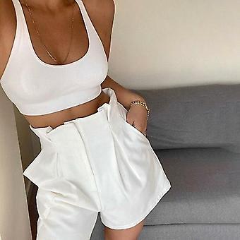 Rüschen hohe Taille Frauen Shorts